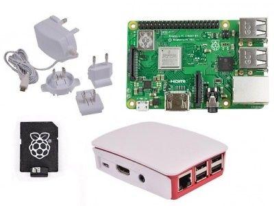 Raspberry Pi 3 Model B Plus (2018 Model) - WHITE Case Official 16GB Starter Kit