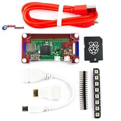 Raspberry Pi Zero W KIT con case adattatori,header, memoria 16 Gb
