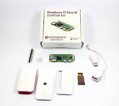 Raspberry Pi Zero W KIT (MZ2) con case ufficiale, adattatori, header e dissipat.