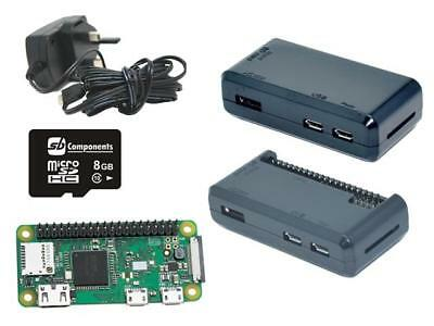 Raspberry Pi Zero W starter Kit with 3m long wire power supply -Black Case