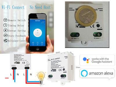 Smart Mini interuttore switch wifi Alexa e Google Ewelink no shelly