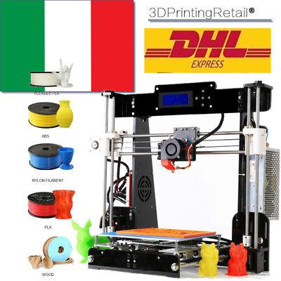 Stampante 3D For Reprap Prusa i3 A8 DIY MK8 extruder LCD2004 220 x 220 x 240mm