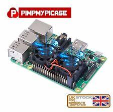Ultimate Dual Cooling Fan Kit Heatsink Cooler For Raspberry Pi 3 NESPi Retropie