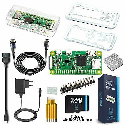 vilros Raspberry Pi Zero W Complete Starter Kit -- EU Plug Edition (Q6f)