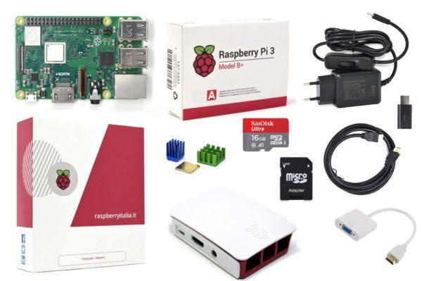 RASPBERRYITALAI raspberry pi 3 modello b plus starter kit barebone madre con kingstonBEFA