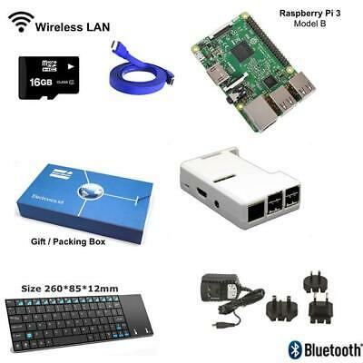 Raspberry Pi 3 Modello B Completo Starter Kit con Mini Tastiera Wireless -