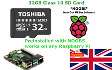 32GB sd card with NOOBS preinstalled for Raspberry Pi 1, 2, 3, 4 & Zero